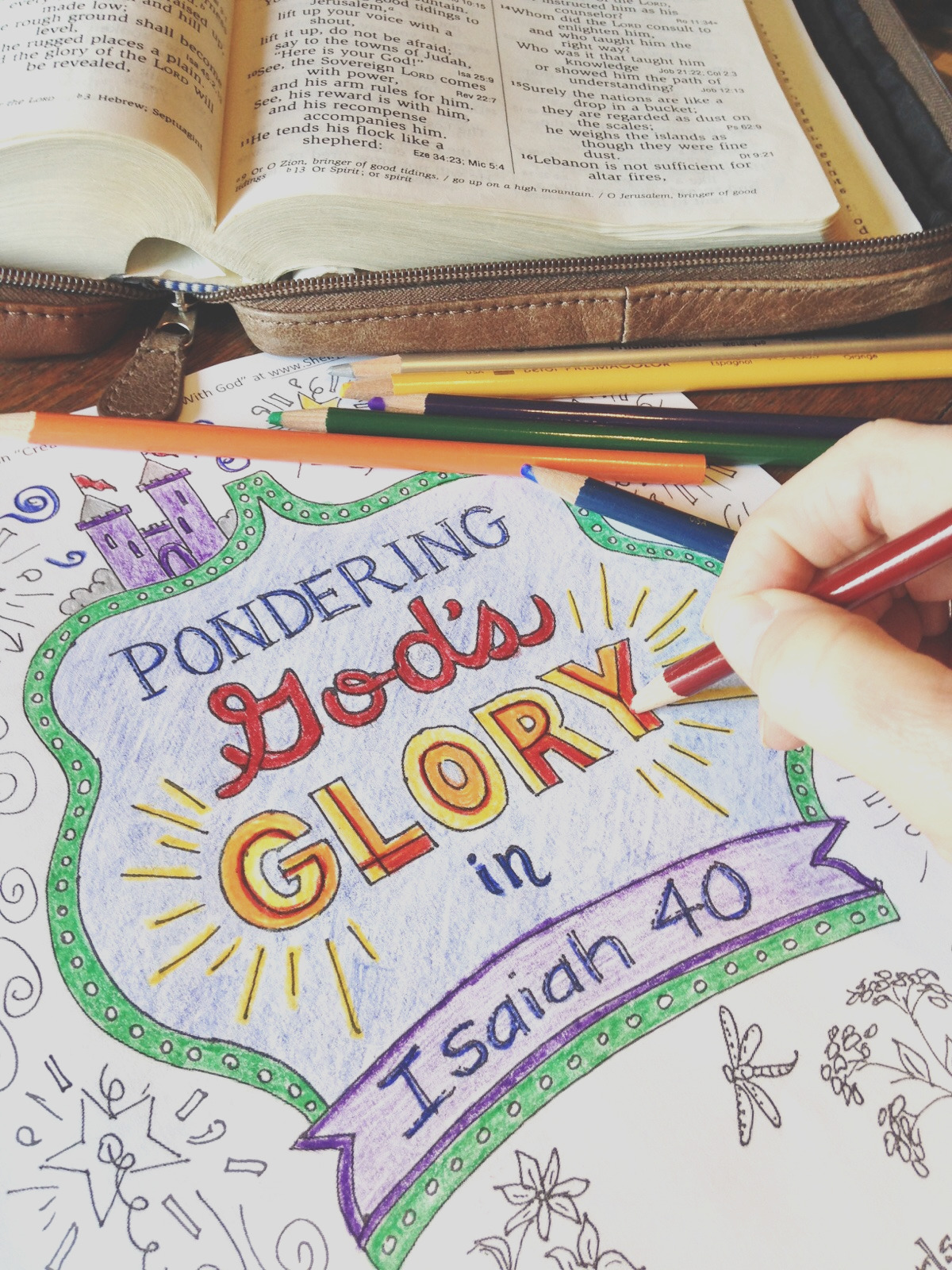 a coloring book devotional