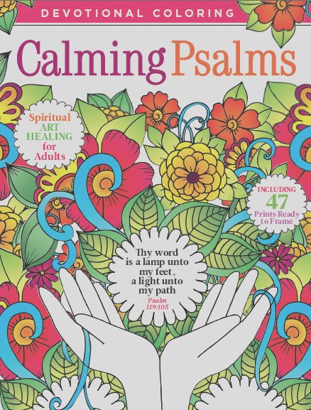 devotional coloring calming psalms
