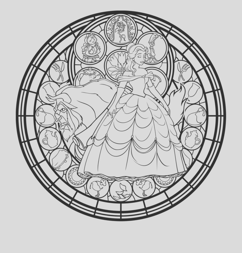 TwRxbx beauty and the beast adult coloring pages this
