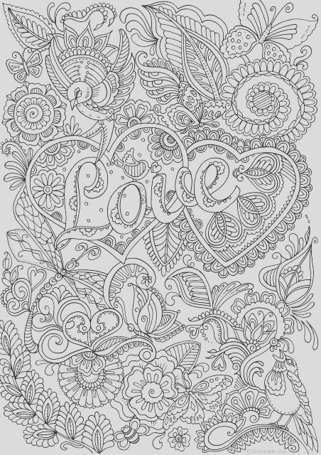 love in details printable adult coloring