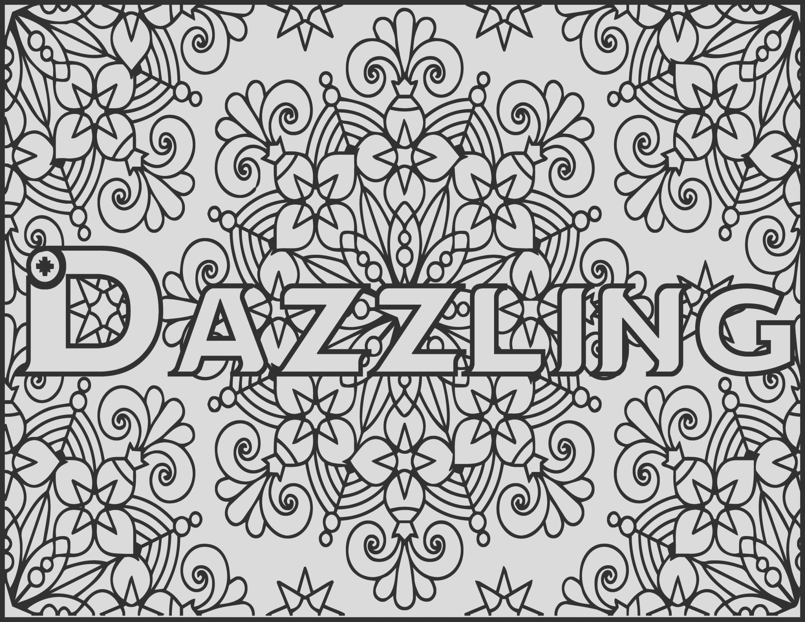 adult coloring pages dazzling grown up
