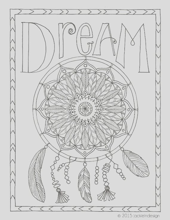 dream coloring page pdf instant