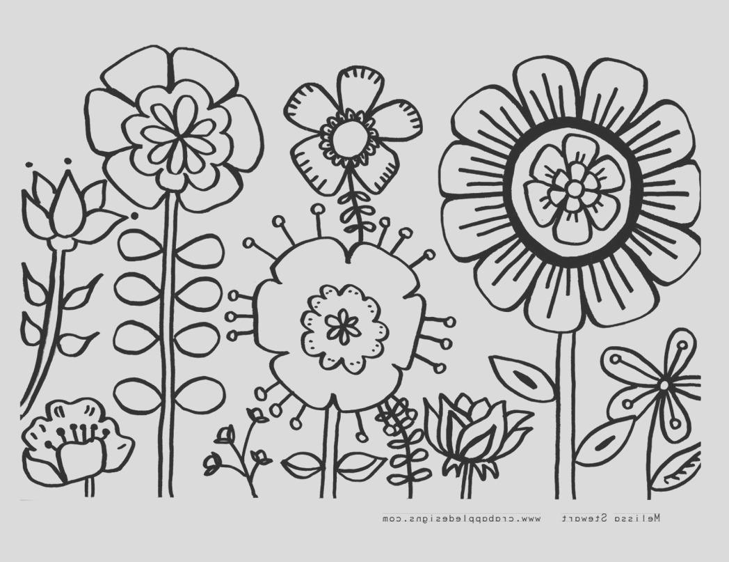flower coloring sheets for preschoolers