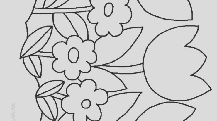 Flower Coloring Page for Preschoolers New Flower Coloring Pages for Preschoolers at Getdrawings