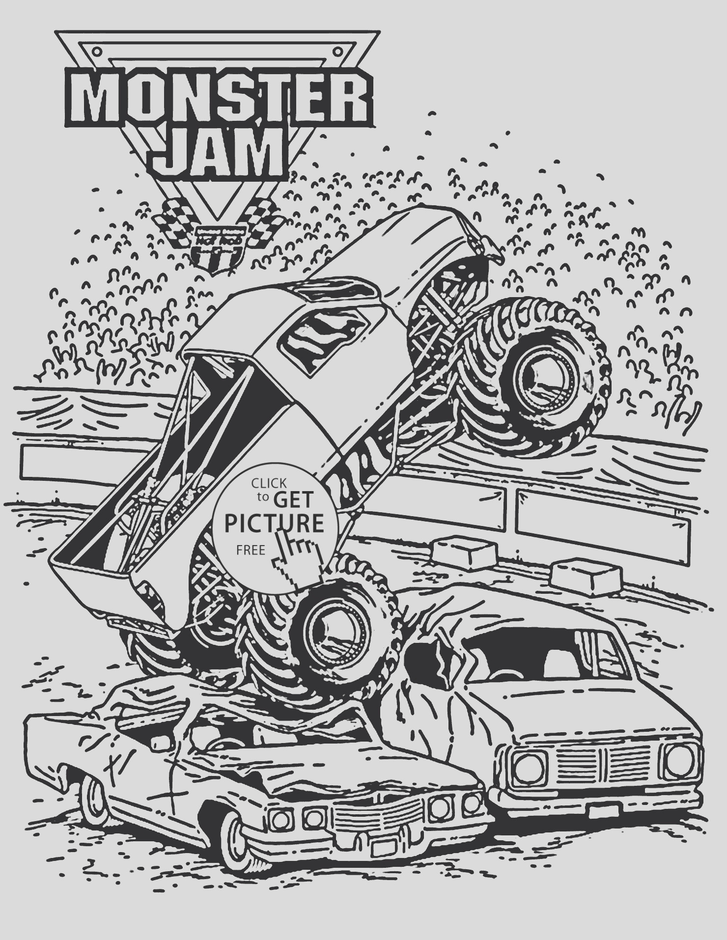 max d monster truck coloring pages