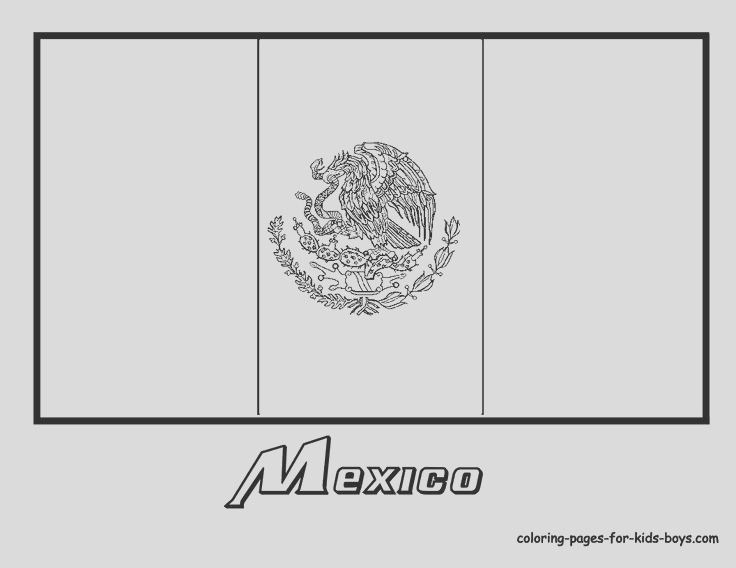 mexican flag black and white
