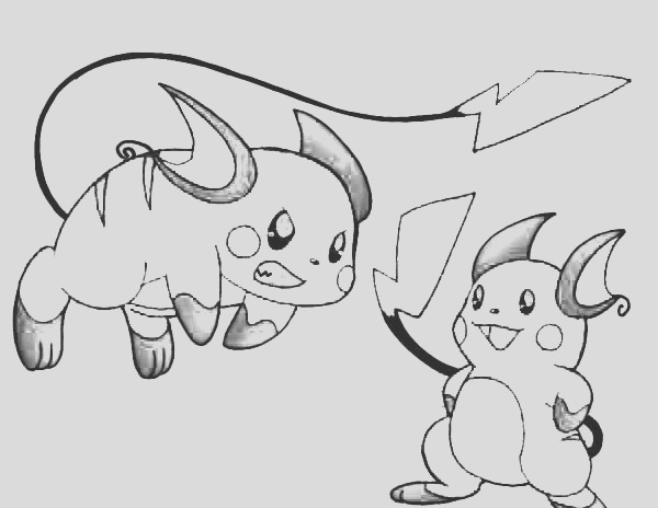 raichu learn to coloring page 2
