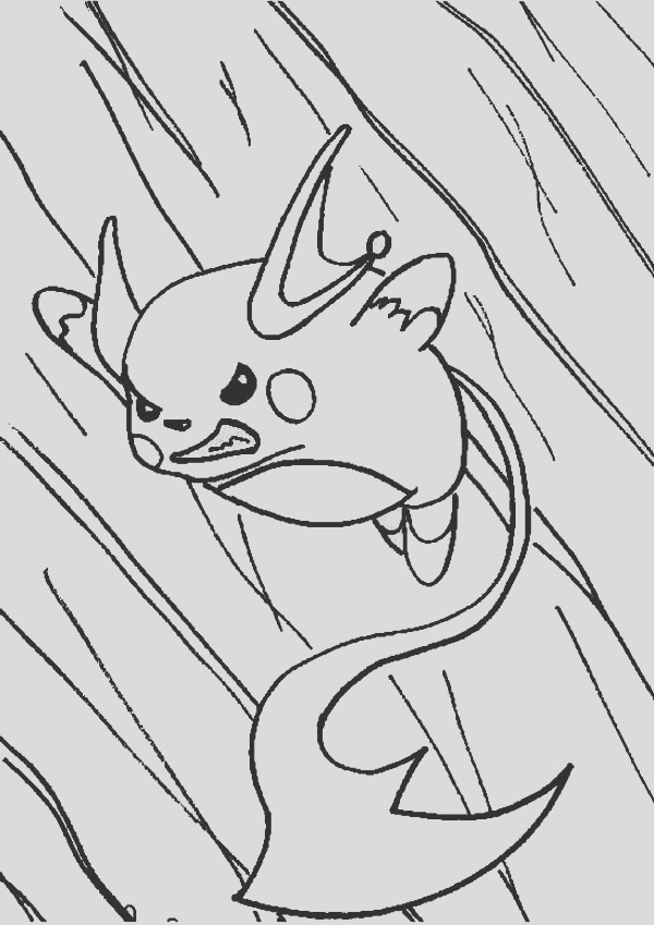 raichu in action coloring page