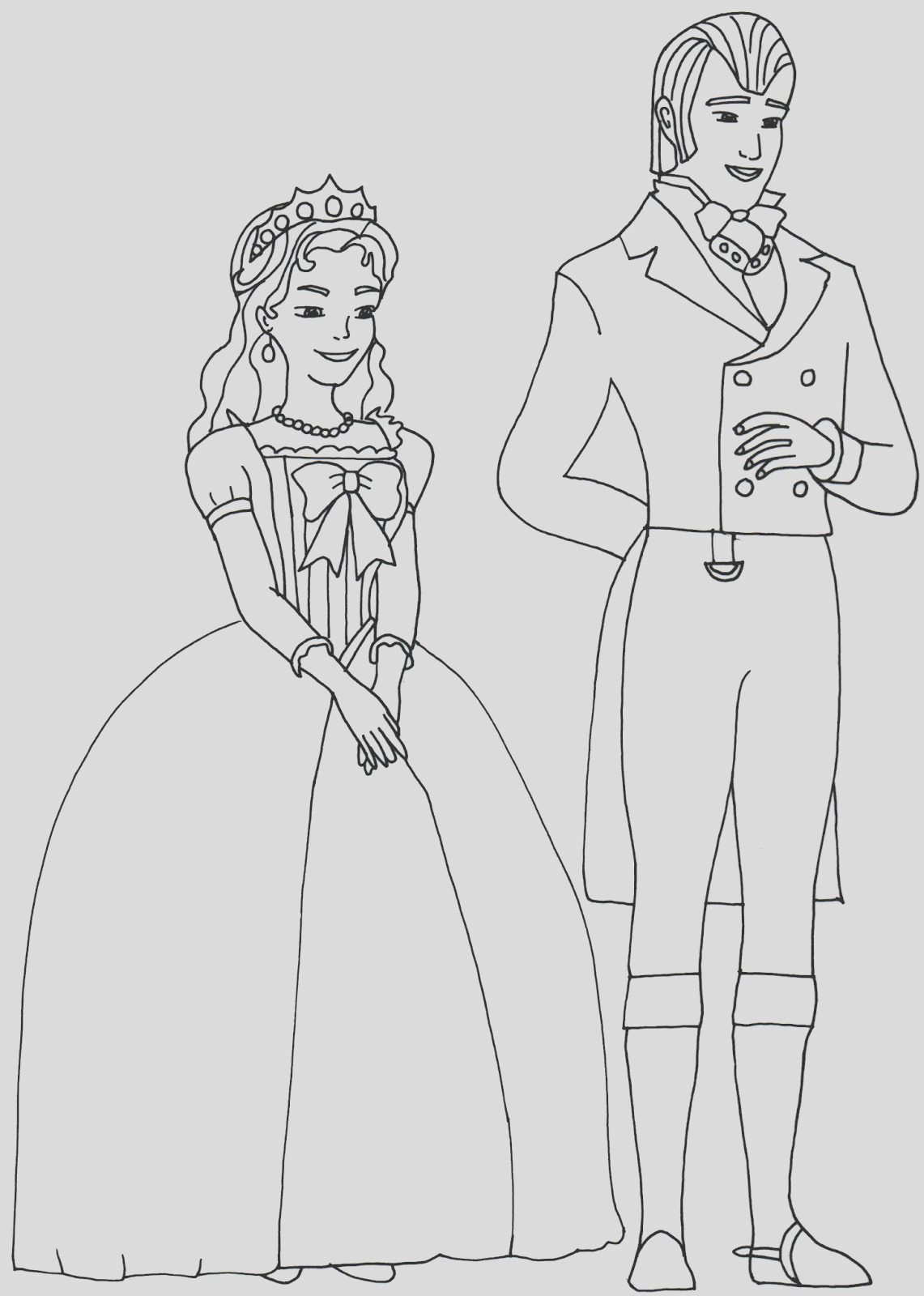 sofia first coloring book pages