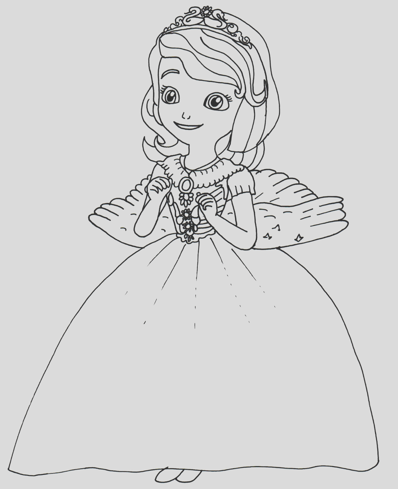 halloween costume sofia first coloring