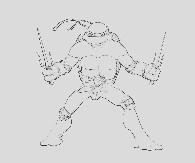 tmnt coloring pages on raphael sketch templates