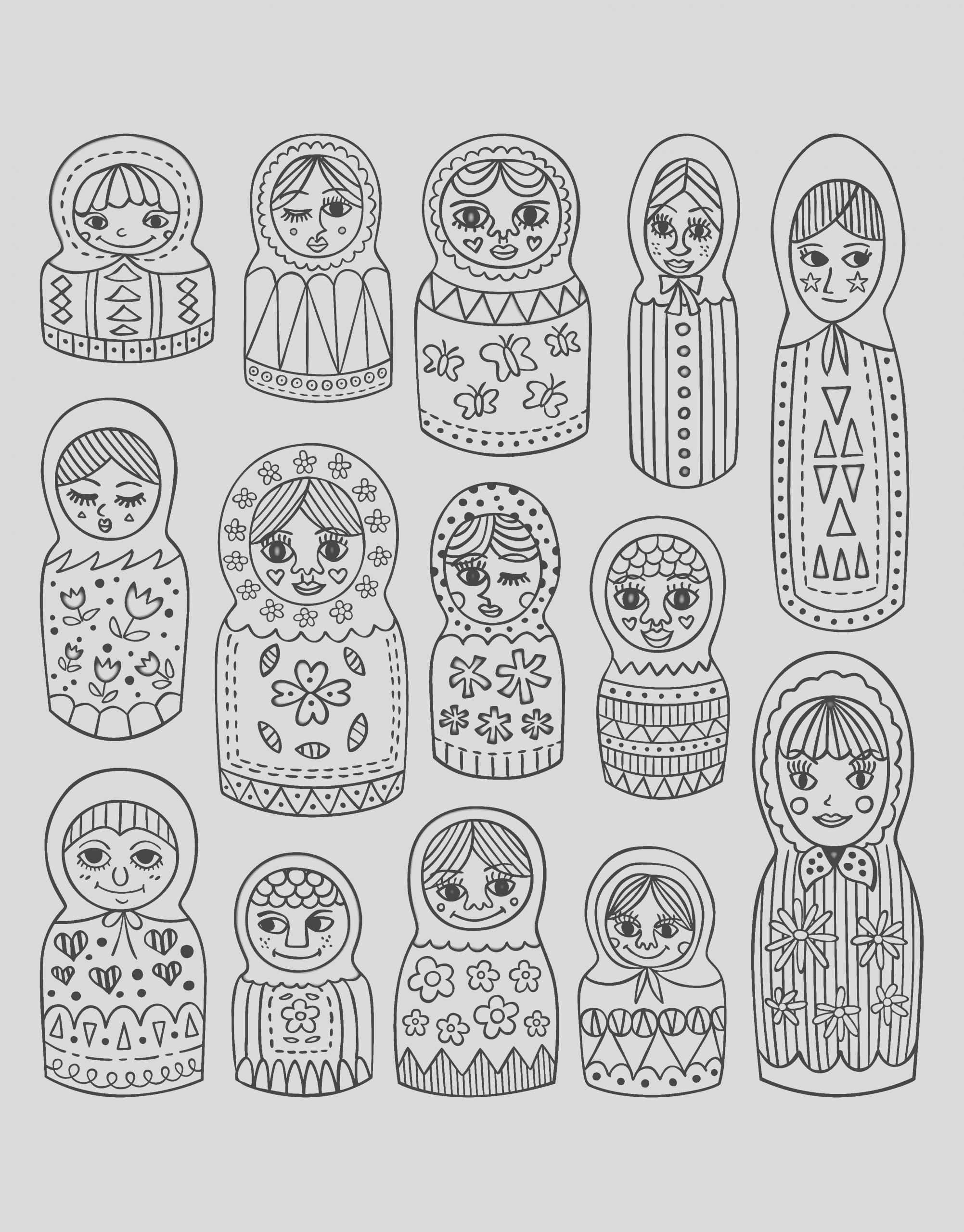 image=russian dolls coloring adult cute russian dolls 1