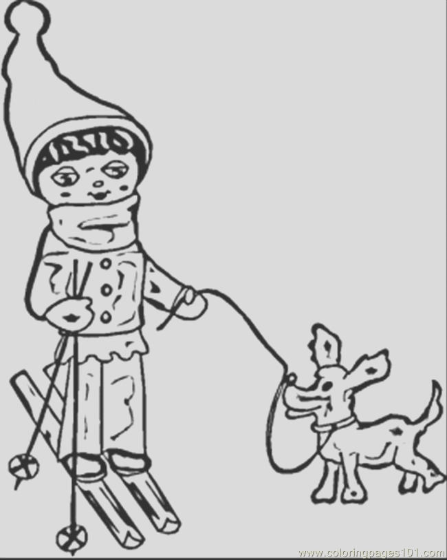russian winter coloring page