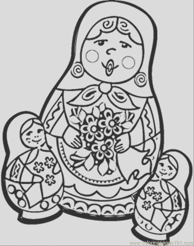 russian dolls coloring page