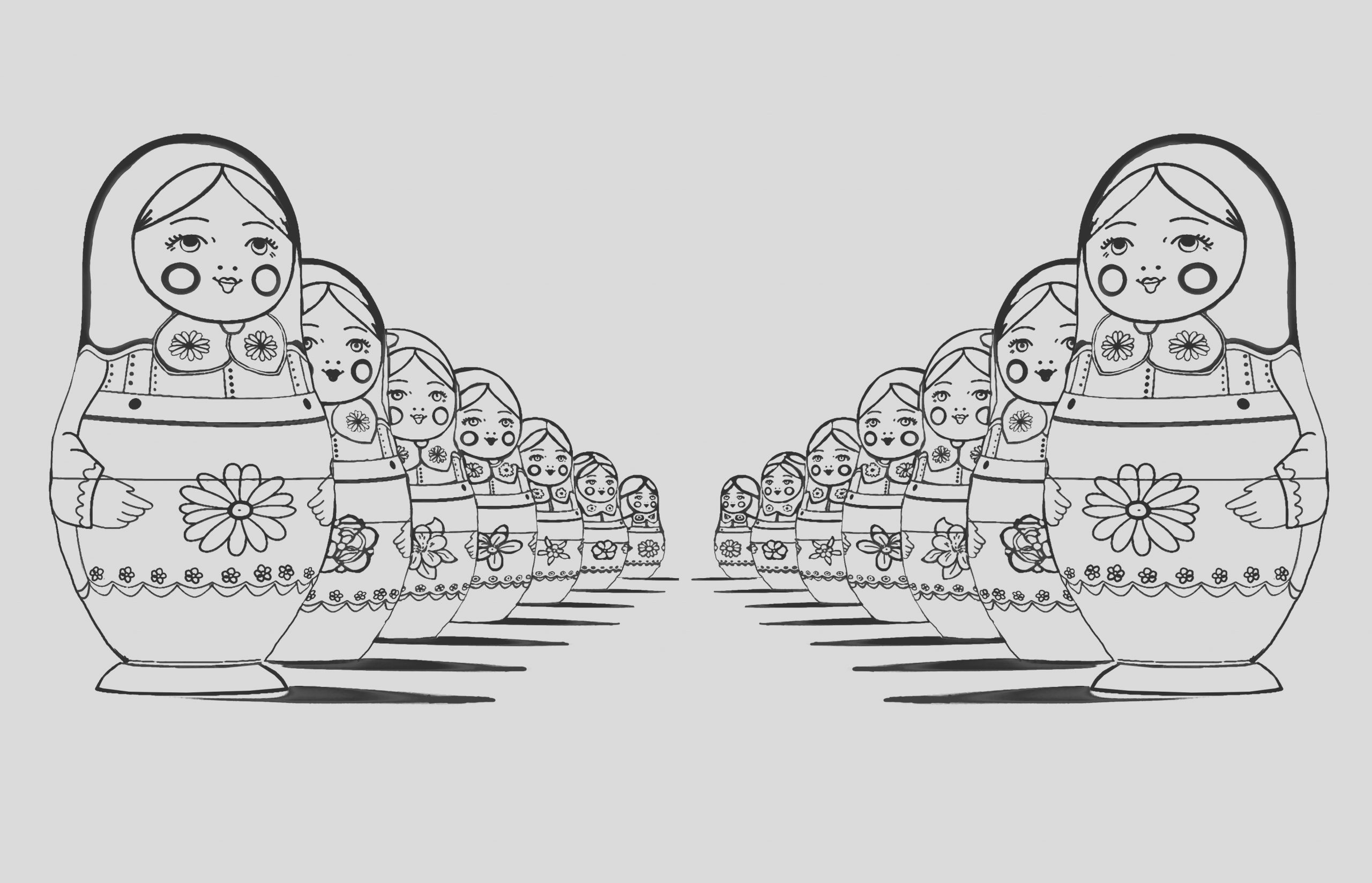 image=russian dolls coloring page adult russian dolls perspective double 1