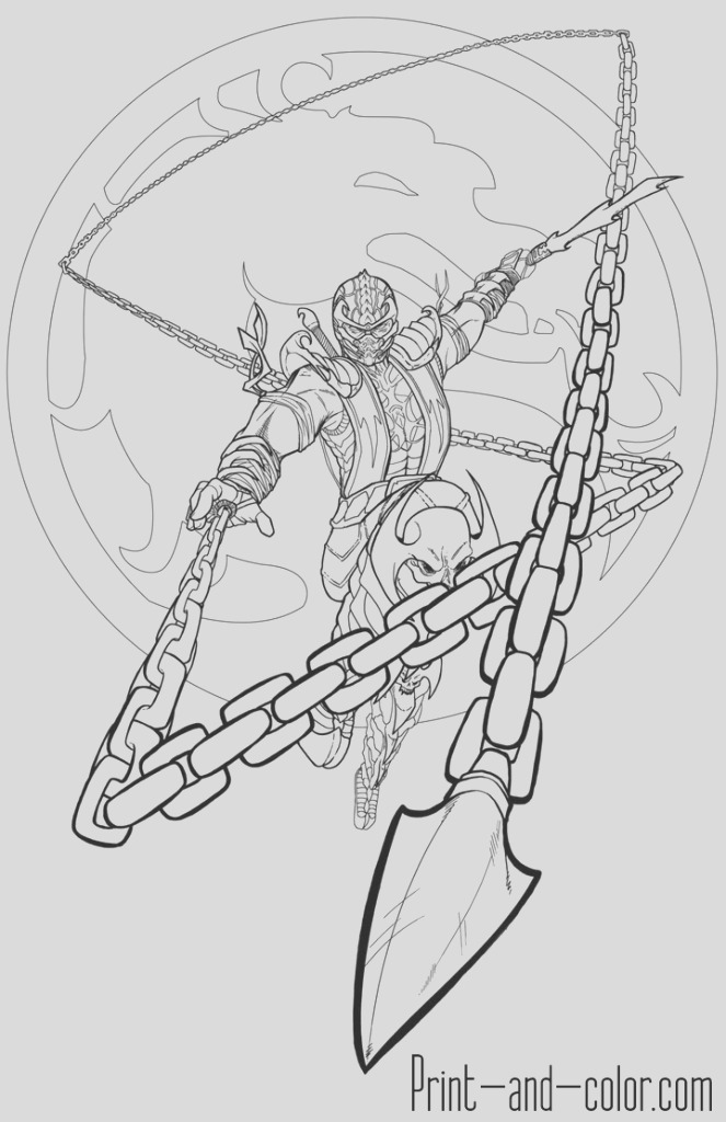 scorpion mk11 coloring pages