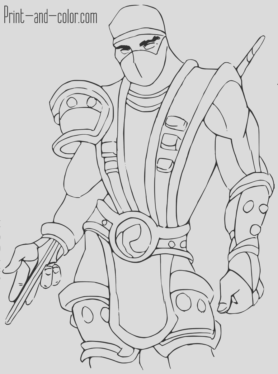 mortal kombat x coloring pages