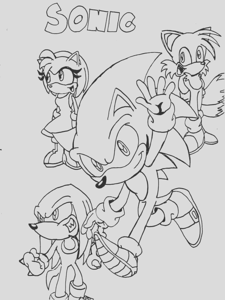 sonic underground coloring sketch templates