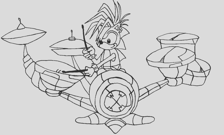 manic sonic underground coloring pages sketch templates