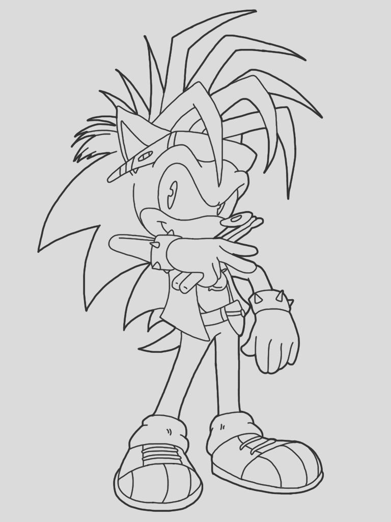 Coloring Manic the hedgehog