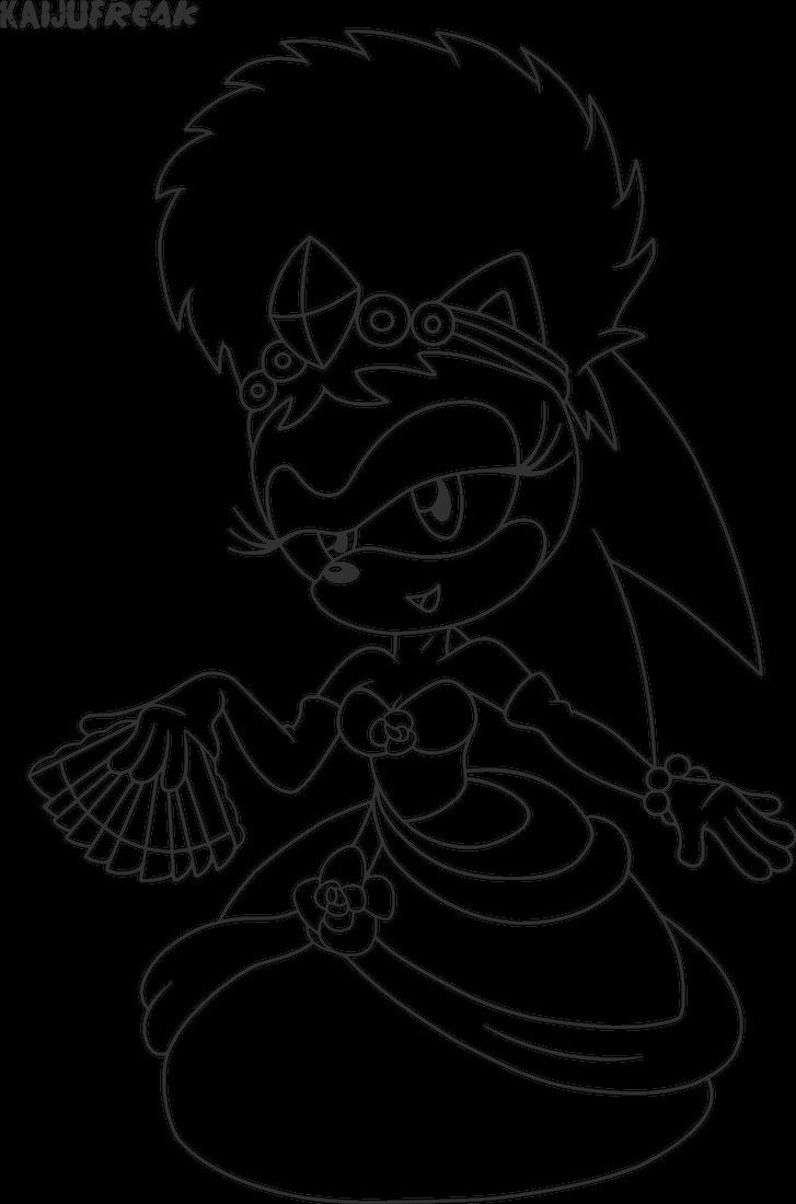 sonic underground sonia coloring pages sketch templates