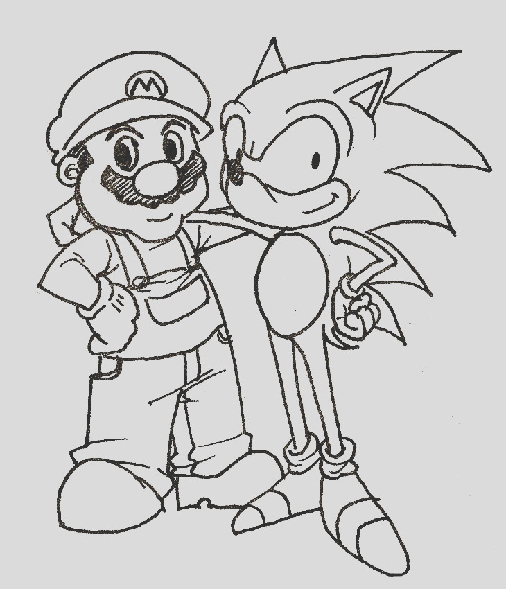 sonic underground coloring pages