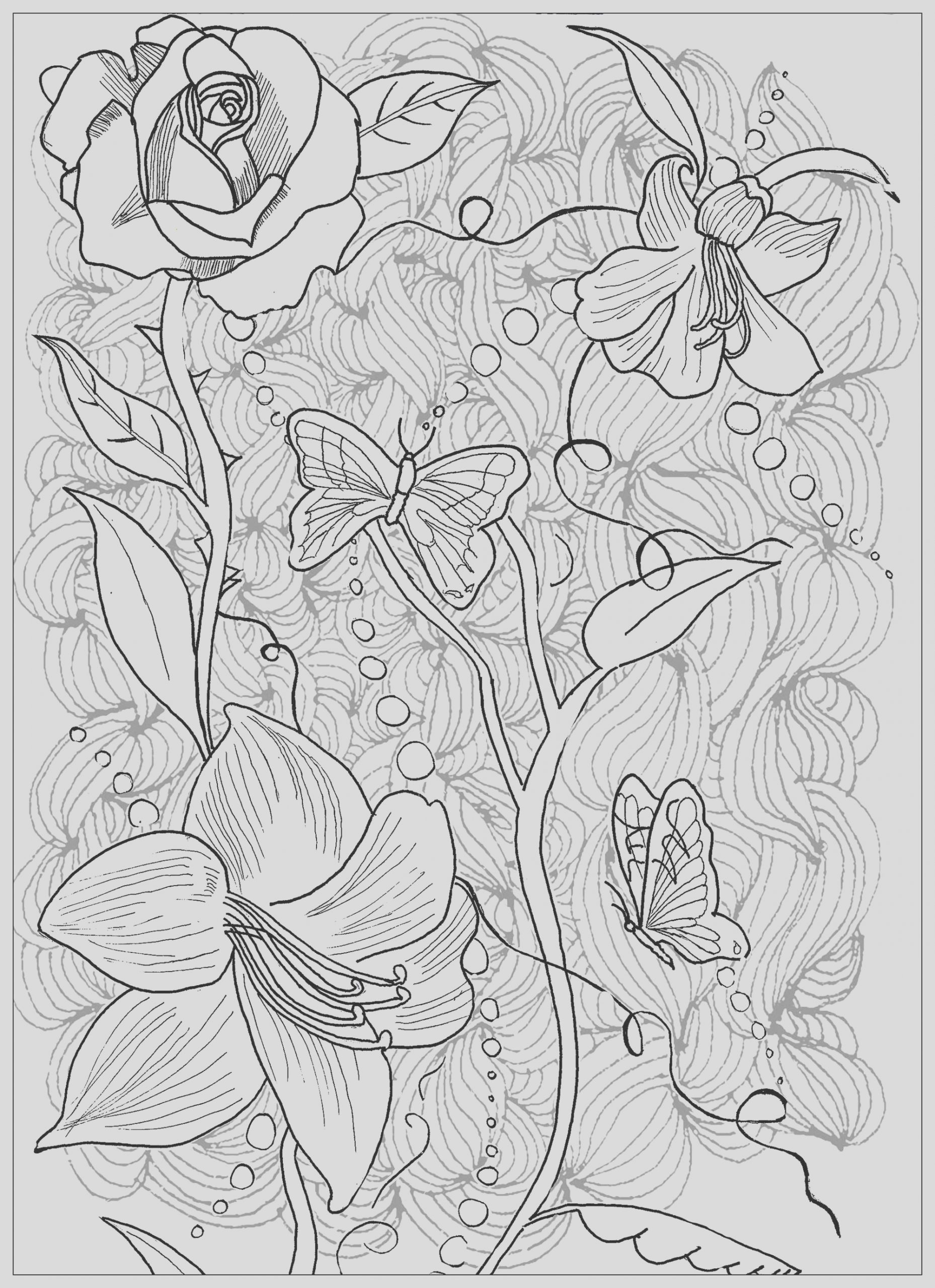 image=tatoo Coloring Page Tattoo Flowers Butterfly 1