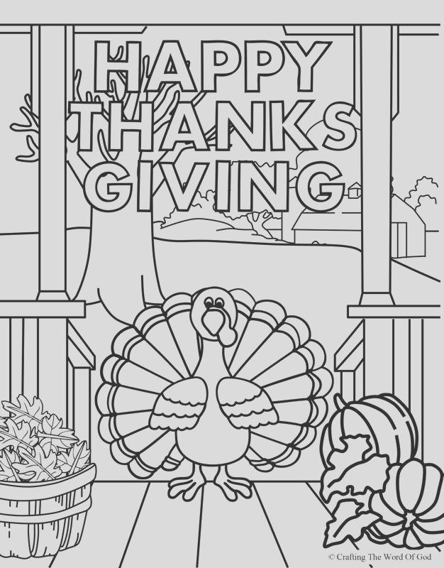 happy thanksgiving 4 coloring page