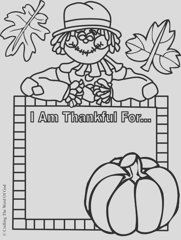 i am thankful activity sheet