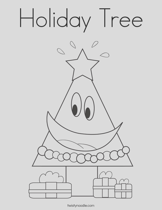 holiday tree 2 coloring page