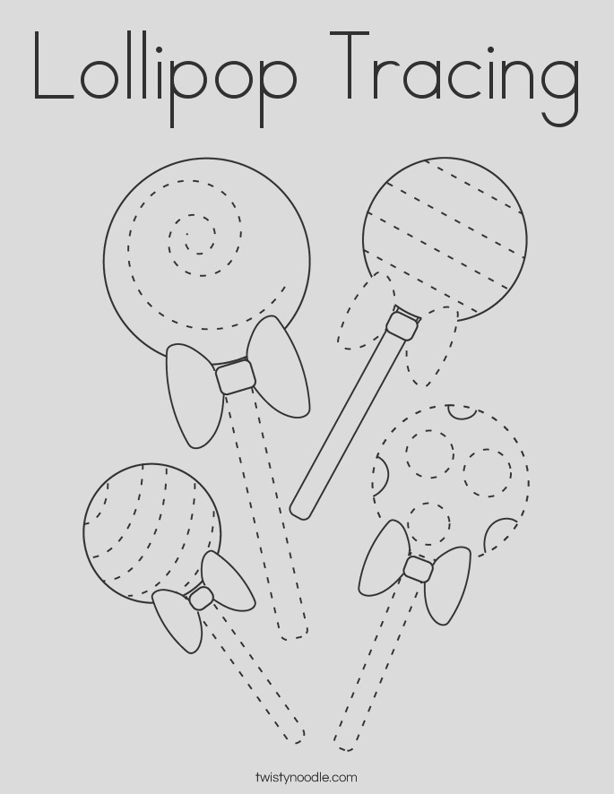 lipop tracing coloring page