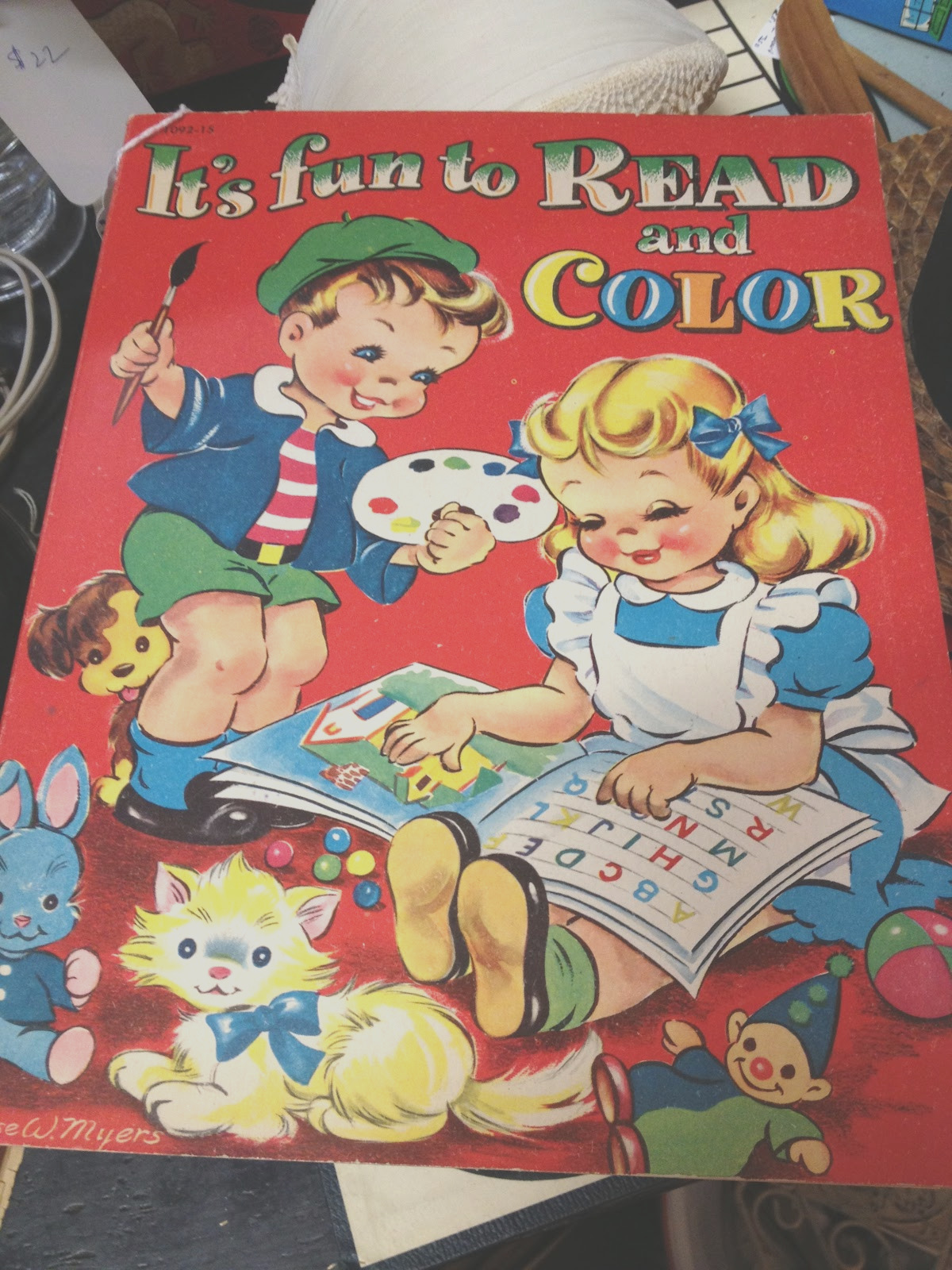 collecting vintage coloring books
