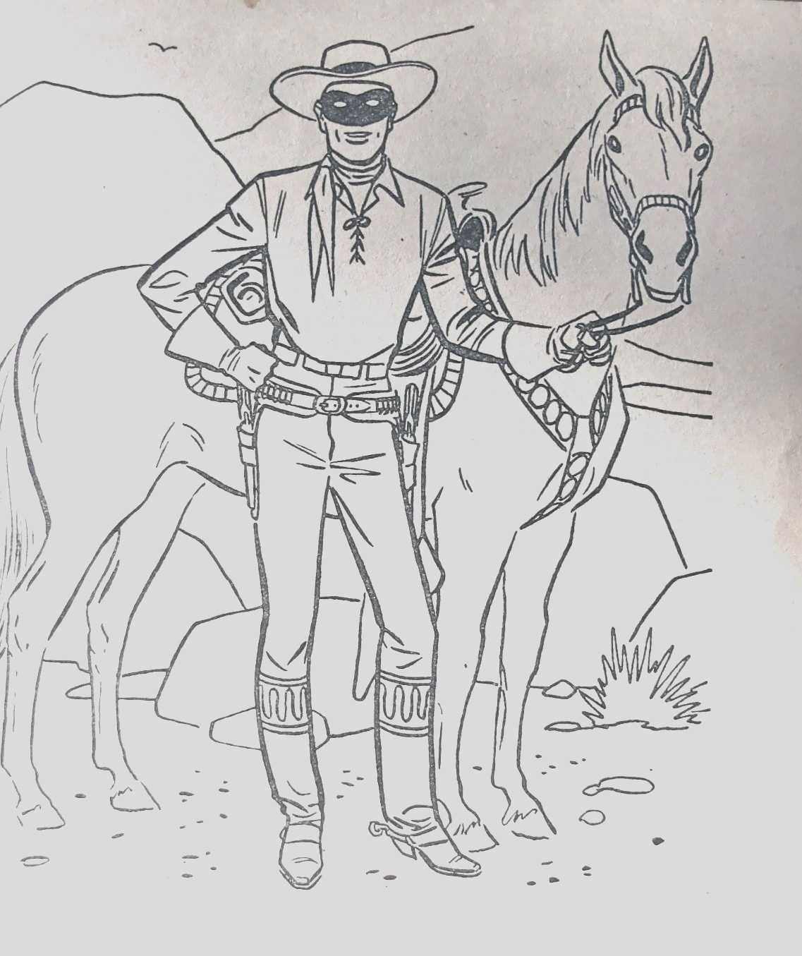 Lone Ranger Coloring Books Set 6