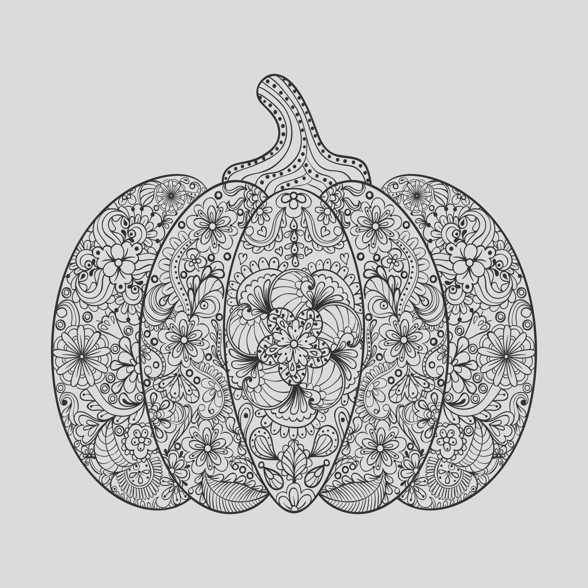 halloween adult coloring pages image=events halloween coloring halloween plex pumpkin with flowers and leaves by ipanki 1