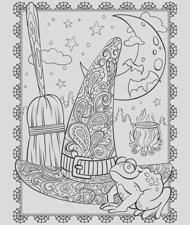 witchs hat coloring page