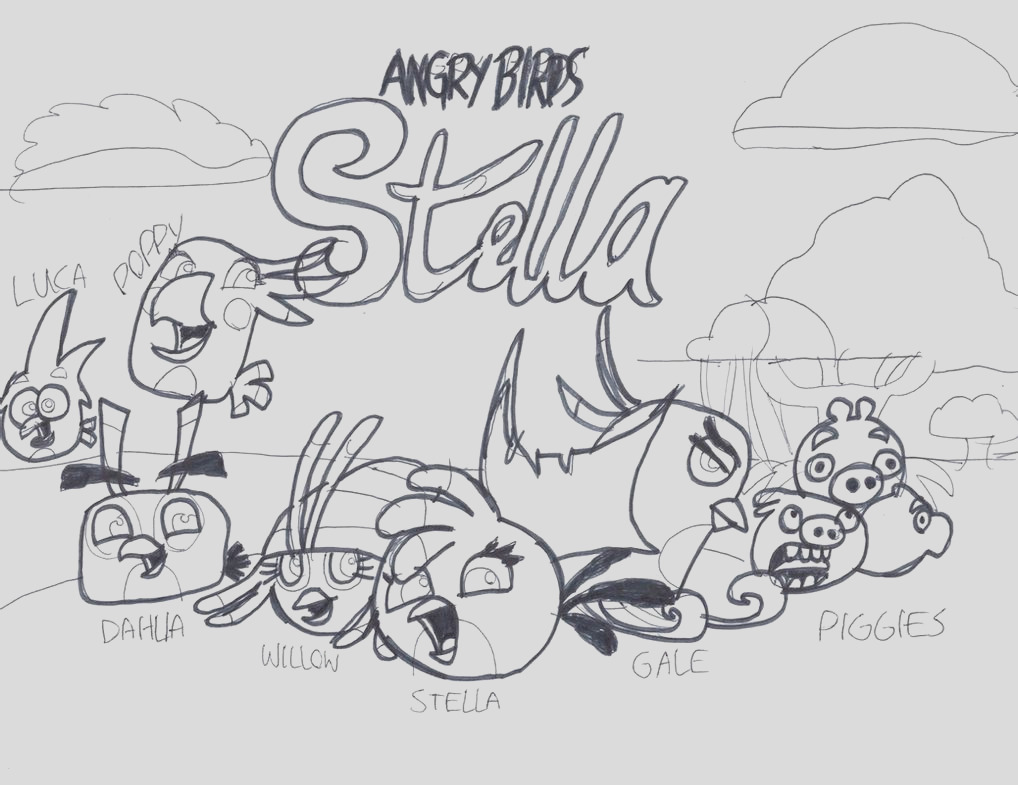 stella from angry birdd