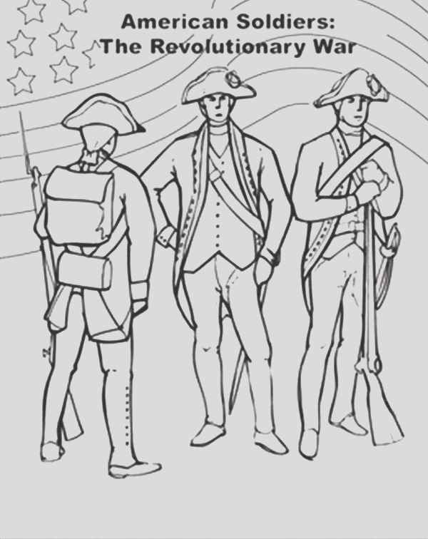 american flag on revolutionary war for independence day coloring pages