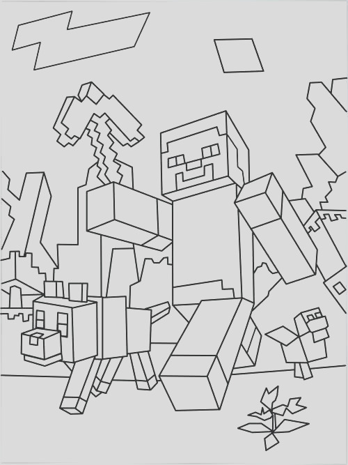 herobrine coloring pages