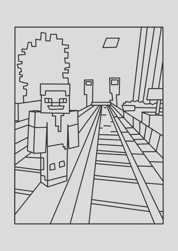 minecraft coloring pages herobrine
